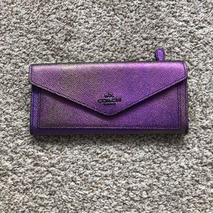 NWOT Coach Hologram Iridescent Oil Slick Wallet